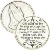 Serenity Prayer Praying Hands Pocket Token