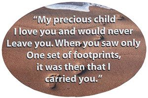 Footprints in the Sand in Sand Magnet (Pkg of 4)