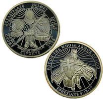 Full Holy Armor of God Challenge Coins Bronze