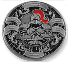 The Whole Armor of God Coin Deluxe Pewter