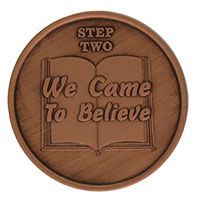 Step Two We Came to Believe, AA Recovery Copper Coin
