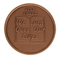 Step Three We Turn Over Our Lives, AA Recovery Copper Coin