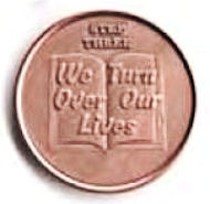 Step Three We Turn Over Our Lives Recovery Copper Coin