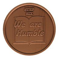 Step Six We Are Humble, AA Recovery Copper Coin
