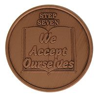 Step Seven We Accept Challenges, AA Recovery Copper Coin