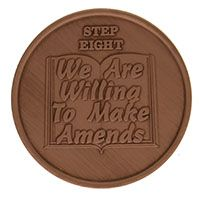 Step Eight We Are Willing to Make Amends, AA Recovery Copper Coin