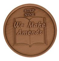 Step Nine We Make Amends, AA Recovery Copper Coin