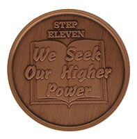 Step Eleven We Seek Our Higher Power, AA Recovery Copper Coin