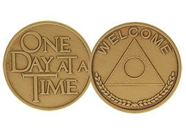 Welcome, One Day at a Time Bronze Coin