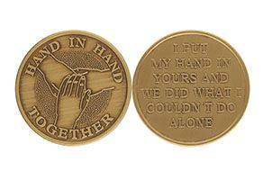 Hand in Hand Together Not Aline Coin