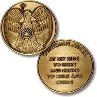 AA Angel At My Side Bronze Challenge Coin