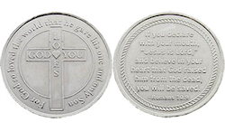 God Loves You Metal Salvation Coins