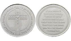 God Loves You Metal Salvation Coins