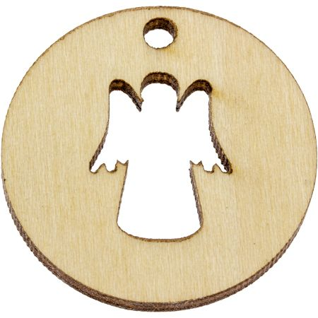Angel in My Pocket Protect Me Wooden Coin Wood