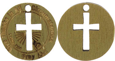Give Thanks Pray Wooden Coins