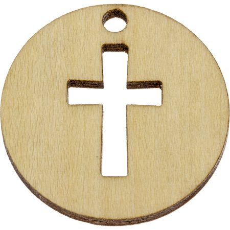 Give Thanks in All Circumstances Wood Coin
