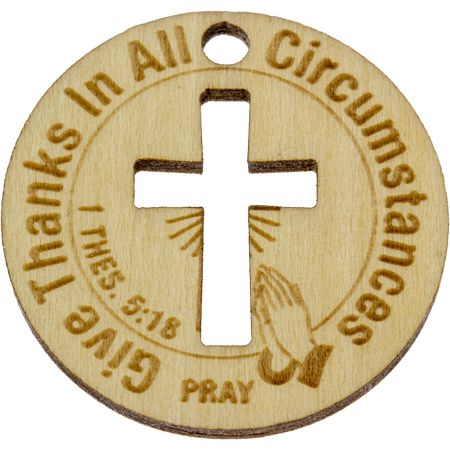 Give Thanks Pray Wooden Coins (Pkg of 10)