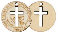 Give Thanks Wood Christian Coins