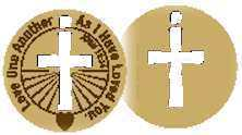 Wood coins - Love One Another - Christian