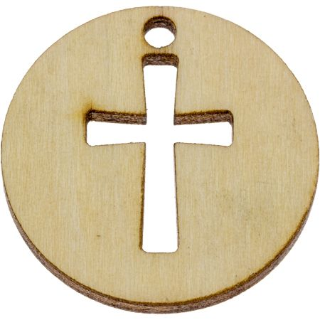 Love One Another Wood Coin