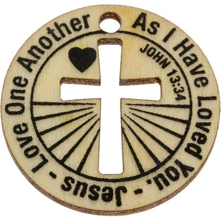 10 Love One Another Wooden Coins