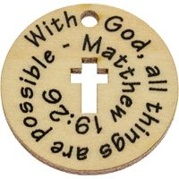 With God All Things Possible Wood Coins (Pack of 10)
