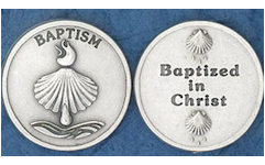 Baptism in Christ Sea Shell Gift Coins