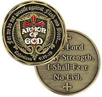 Armor of God Lord is My Strength Challenge Coin