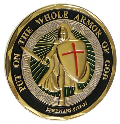 Full Armor Of God Challenge Coin Deluxe