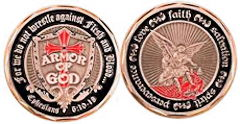 Coin Armor of God Shield - St. Michael