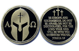Alpha Omega - Be Strong God is With You - Coin
