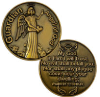 Guardian Angel of God Coin - Protect Us Against Plagues