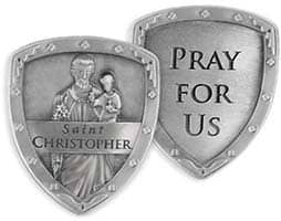 Saint Christopher Pocket Shield Coin