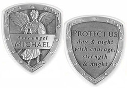 Archangel Michael Pocket Shield Coin