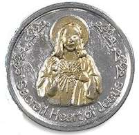 Sacred Heart of Christ Coin & Prayer Card