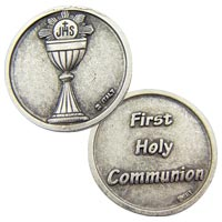 Holy Communion Pewter Cup Coin