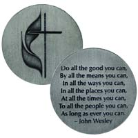 United Methodist Coin John Wesley