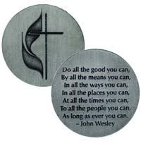 United Methodist Coin John Wesley