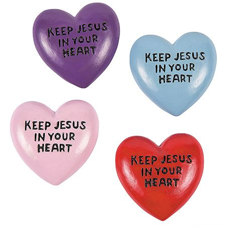 Keep Jesus in Your Heart Worry Stones (Pkg of 12)
