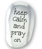Keep Calm & Pray On Pocket Stone