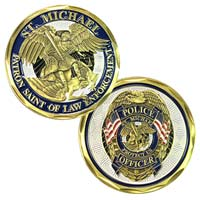 Police St Michaels Deluxe Coin