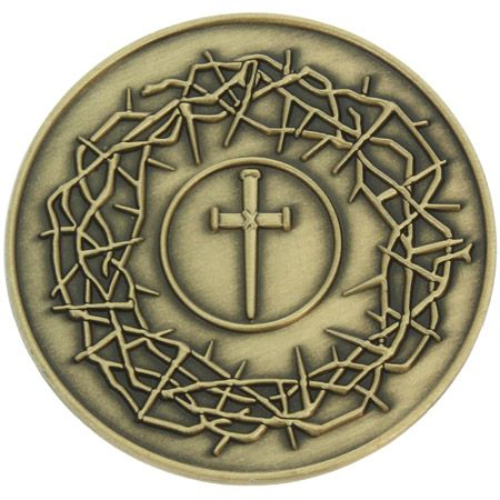 Crown of Thorns Deluxe Easter Coin Isaiah 53:5