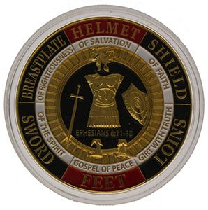 Armor of God - Pray Always - Challenge Coin Coin in Case