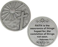 Faith is Assurance Silver Pocket Coin