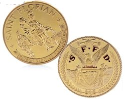 Firefighter St. Florian Cross Eagle Coin Gold