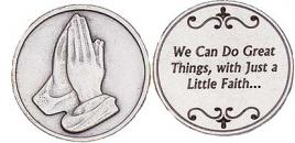 Great things Through Faith Coin, Praying Hands