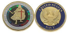 US Navy Armor of God Coin - Deluxe