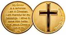 Cross In Pocket Coin 22K Gold