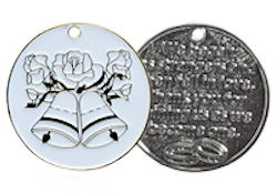 Wedding Memento Gift Coin - Weddinfg Bells