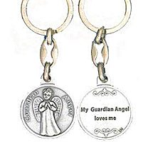 Love Me Guardian Angel Keychain